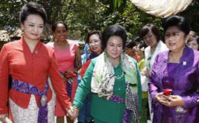 彭丽媛出席APEC领导人配偶活动