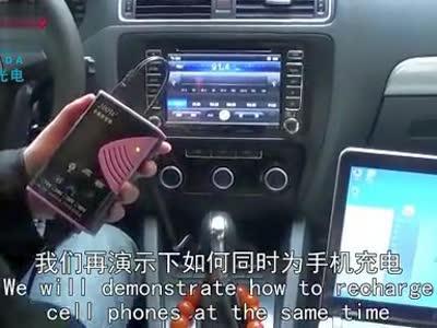 德姆达200w12v车载逆变器使用:带动笔记本和手机