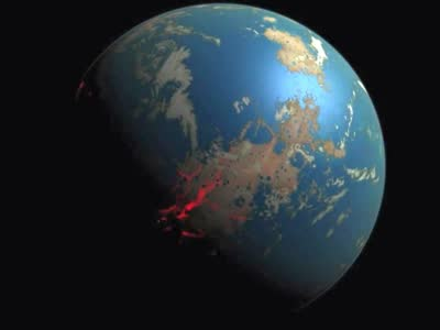 示40亿年前的地球