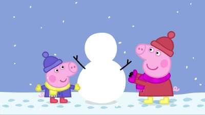粉红猪小妹26 下雪了