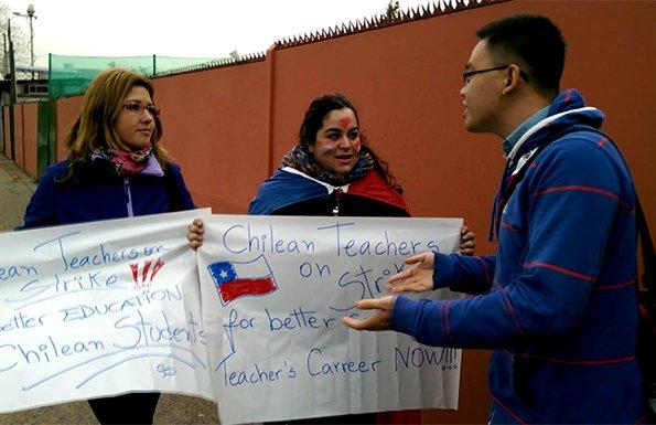 乐视直击美洲杯不同声音 教师发布厅外抗议低收入