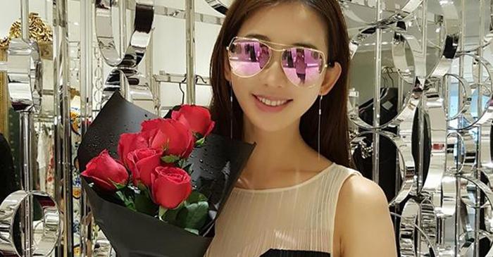 林志玲晒收玫瑰花照 网友激动:要公开了?