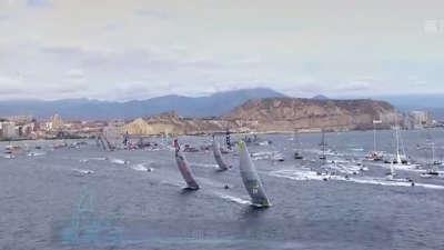 沃尔沃帆船赛环球一周  美丽海岛邂逅沃帆赛