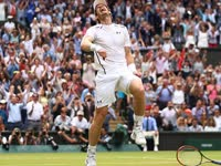 赢赛点穆雷喜极而泣  英国希望终获成功