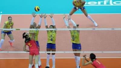 中国女排力克老对手巴西 获大奖赛历史上第200胜