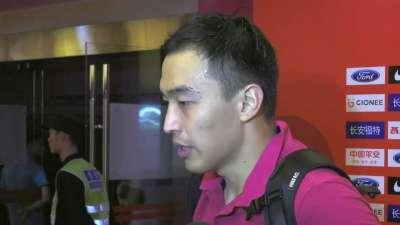 冯潇霆:争取打好每一场比赛 为下个世界杯努力
