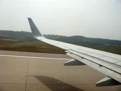 飞机起飞(韩国仁川国际机场→济南遥墙国际机场)