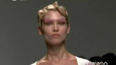 巴西超模演绎智慧混搭 加勒斯·普时装发布会