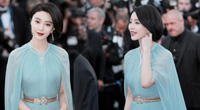 Fan Bingbing's expression is fresh and cute