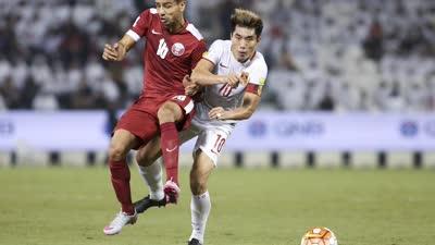世预赛-中国0-1卡塔尔降至小组第3 吉翔乌龙助攻