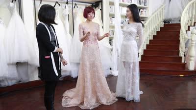 安又琪穿婚纱性感爆棚 陈西贝追问其约会心程