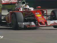 F1新加坡站排位赛Q1:维特尔前防倾杆故障开三轮车