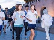 最猛孕妇!李诗英挺6个月孕肚跑完半马21公里