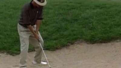 总统杯时刻-1994年首届总统杯克里帕尔文沙坑救球擒鸟
