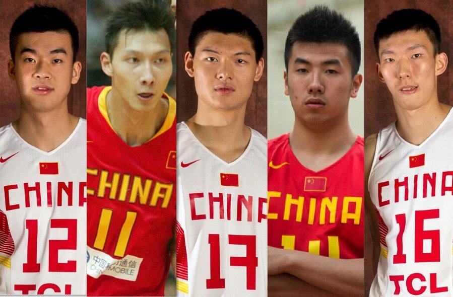男篮阅兵式--中国男篮集训队五大中锋盘点