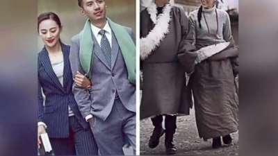 80后藏族新人结婚照走红 民族风pk都市范现反差美