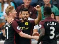 英超-阿圭罗复出梅开二度 曼城客场3-1取10连胜