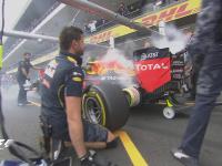 F1墨西哥站FP1:维斯塔潘刹车着火浓烟滚滚
