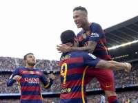 经典-MSN合造4球 巴萨5-0西班牙人夺冠在望