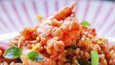 藏红花虾仁米饭