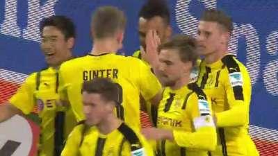 施梅尔策左路下底送助攻 奥巴梅扬推射轰联赛第23球