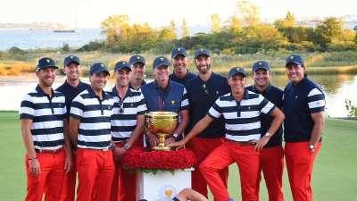 特朗普驾到总统杯 美国队终获7连冠