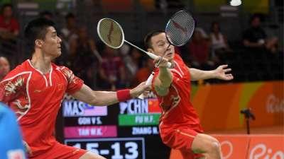 张楠/傅海峰2-1马来西亚组合 里约首夺羽毛球金牌