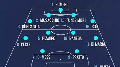阿根廷公布世预赛首发:迪巴拉替补 普拉托搭档梅西