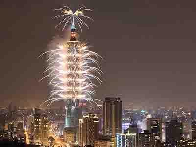 台北101跨年焰火秀