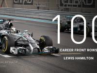 F1马来西亚站排位赛集锦:汉密尔顿第100次头排发车