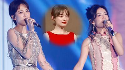 陈乔恩谢娜合唱泪洒舞台