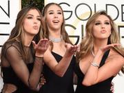 第74届金球奖 史泰龙三个女儿靓丽现身大派香吻