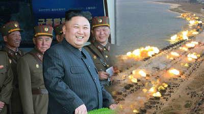 朝鲜举行史上最大火力演习