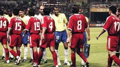 国足曾经的最高成就 面对巴西精彩配合险些破门