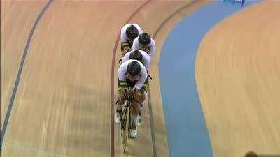 男子团体追逐赛决赛 新西兰反扑失败澳大利亚夺金