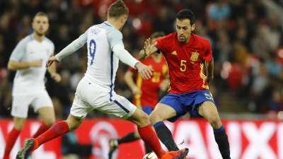 比赛报告—英格兰2-2西班牙 瓦尔迪破荒伊斯科救主