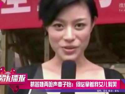 [视频]葛荟婕再呛声章子怡:何必拿着我女儿假笑
