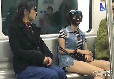 """宁波地铁现""""面膜姐"""""""