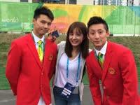 直击奥运中国队开营 跳水队林跃轻松谈笑不紧张