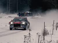 就爱赛车溅我一身雪!赛道实拍WRC瑞典站过弯Day2