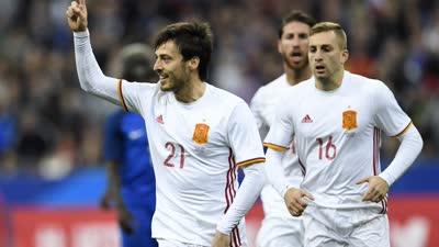 【集锦】友谊赛-席尔瓦点射米兰妖星争议球 西班牙2-0法国