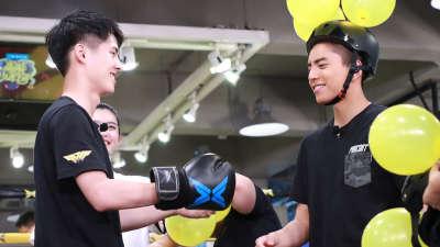 """王俊凯被迫乘坐""""高速炮"""" 董子健拳击向裁判求救"""