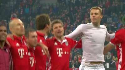 拜仁vs阿森纳数据统计:拜仁控球近7成 射门24比8