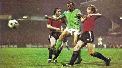 曼联首战绿军珍贵视频 1977年红魔1-1客平圣埃蒂安
