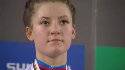 女子个人追逐赛 美国选手戴格特荣登领奖台