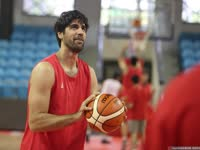 中伊国际男篮对抗赛G2 卡兹米领衔伊朗队训练备战