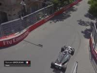 格罗斯让频遇刹车问题 一练最后时刻再次冲出赛道