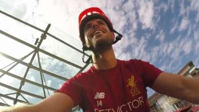 红军不怕远征难!利物浦众将变身单车侠开拔训练场