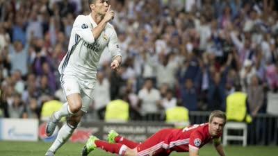 【比赛报告】比赛报告-皇马4-2拜仁 C罗戴帽成欧冠百球第一人