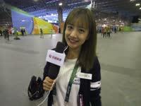 美女主播介绍奥运场馆群 乒乓对决即将上演